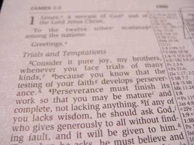 James 1:4 NIV- perseverance