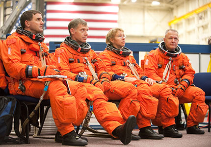 "The ""Final Four"" crew of Atlantis and STS-135"