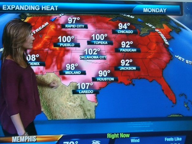 Weekly Photo Challenge: HOT, Hot weather forecast for USA