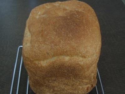 Bread baked in machine on Medium Crust setting.
