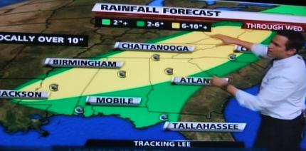 Rainfall prediction for Lee